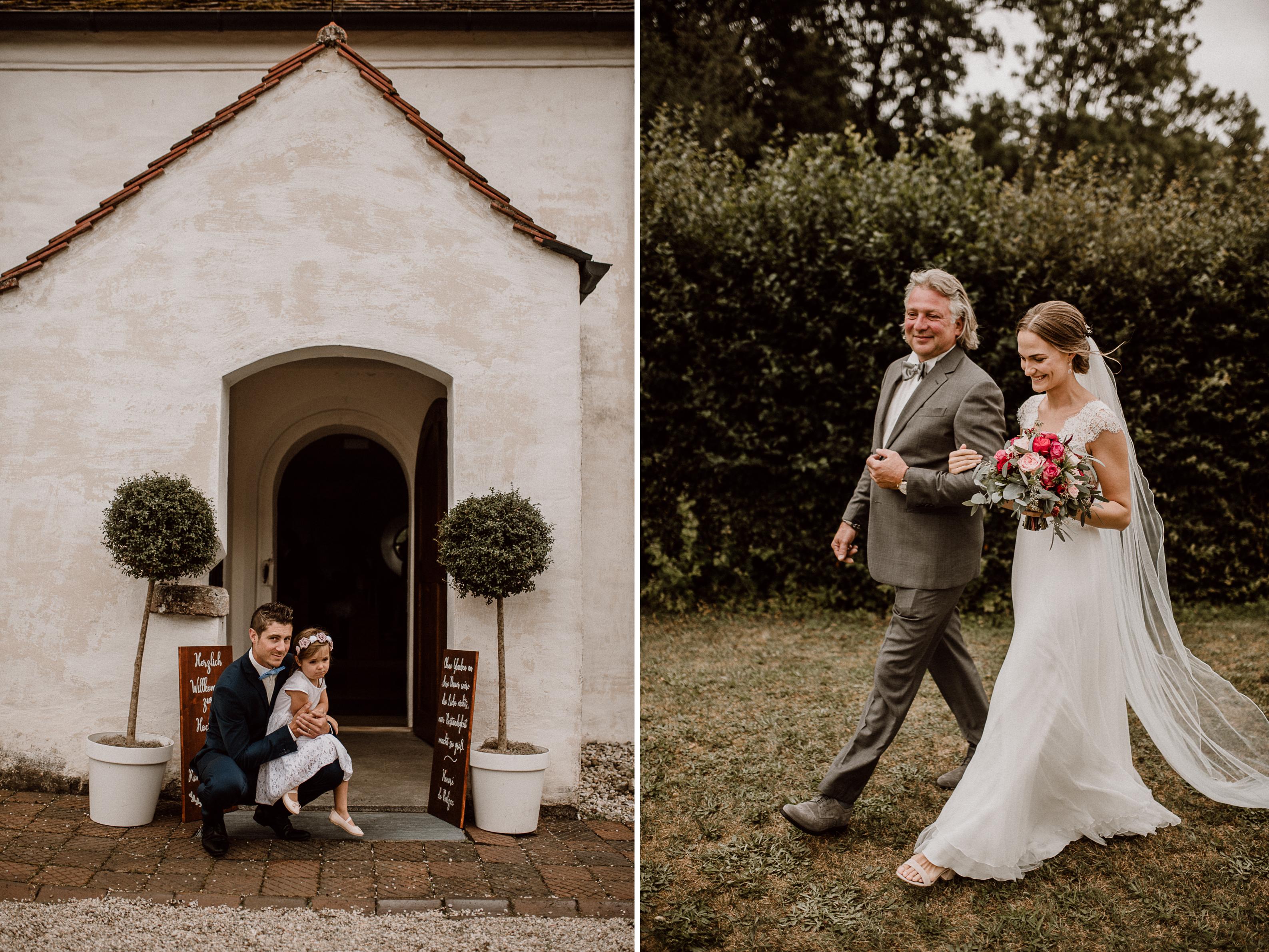 einzug blumenmädchen sonja poehlmann photography couples muenchen bayern